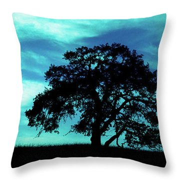 Throw Pillow featuring the photograph Lone Oak by Jim and Emily Bush