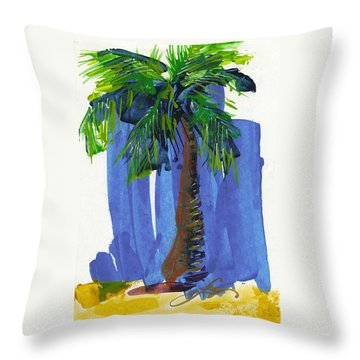 Lone Palm Throw Pillow