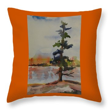 Lone Pine Throw Pillow by Heather Kertzer