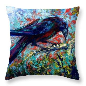 Lone Raven Throw Pillow