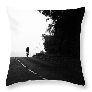 Lone Rider Throw Pillow