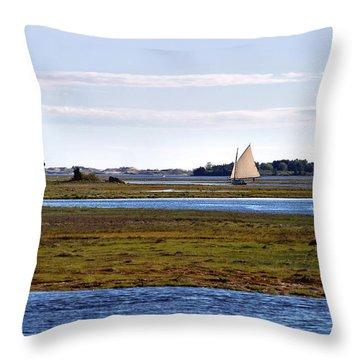 Lone Sail Throw Pillow