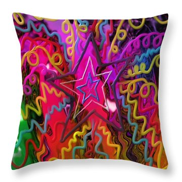 Throw Pillow featuring the painting Lone Star by Kevin Caudill