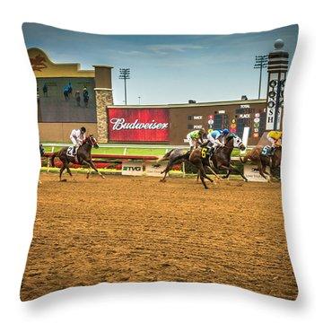 Lone Star Park Grand Prairie Texas Throw Pillow
