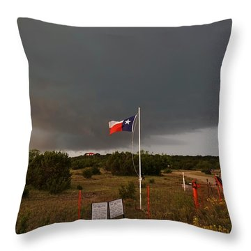 Lone Star Supercell Throw Pillow
