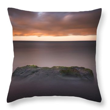 Throw Pillow featuring the photograph Lone Stone At Sunrise by Adam Romanowicz