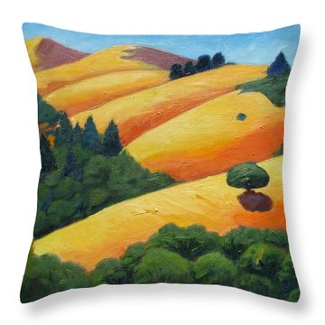 Lone Tree Among Trees Throw Pillow