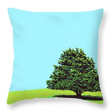 Lone Tree Throw Pillow by Dominic Piperata