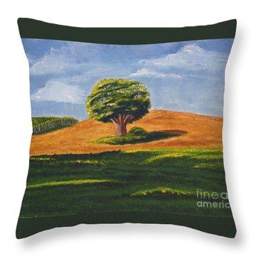 Lone Tree Throw Pillow by Mendy Pedersen