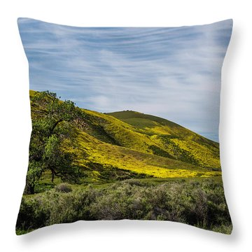 Lone Tree On The Plain Throw Pillow