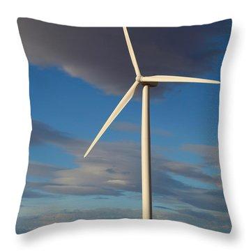 Lone Turbine Throw Pillow