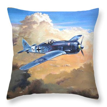 'lone Warrior Fw190' Throw Pillow by Colin Parker