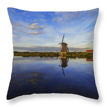Lone Windmill Throw Pillow