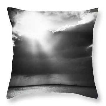Lonely At Sea Throw Pillow
