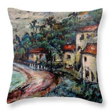Lonely Bay Throw Pillow
