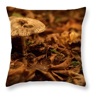 Lonely But Fungi Throw Pillow