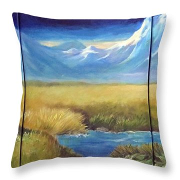 Lonely Cabin Throw Pillow by Carol Hart