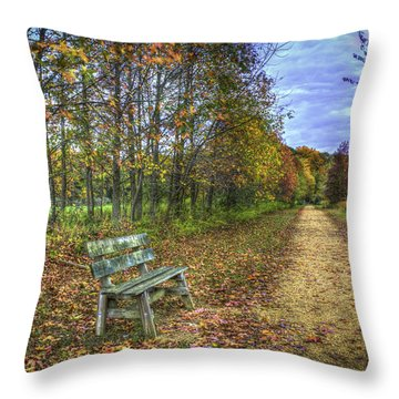 Lonely Chair Throw Pillow