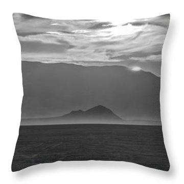 Lonely Child Lost In The Desert Throw Pillow