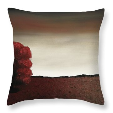 Throw Pillow featuring the painting Lonely Heart by Edwin Alverio