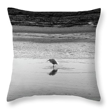 Throw Pillow featuring the photograph Lonely Heron by Nicholas Burningham