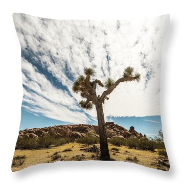 Lonely Joshua Tree Throw Pillow