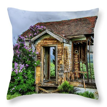 Lonely Lilacs Throw Pillow