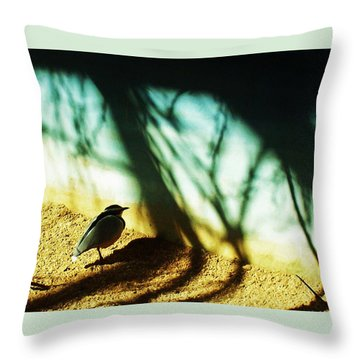 Throw Pillow featuring the photograph Lonely Little Bird by Shawna Rowe