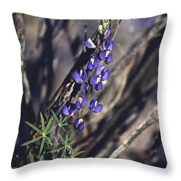 Lonely Lupine Throw Pillow