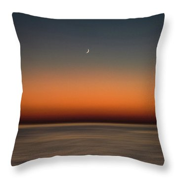 Lonely Moon Throw Pillow