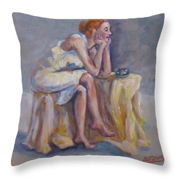 Lonely Mornings Throw Pillow