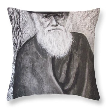 Lonely Occupation - C. Darwin Throw Pillow