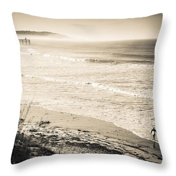 Lonely Pb Surf Throw Pillow