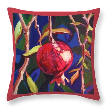 Lonely Pomegranate Throw Pillow