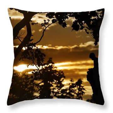 Lonely Prayer Throw Pillow by Bernd Hau