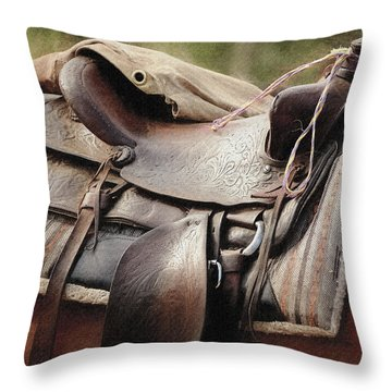 Lonely Saddle  Throw Pillow