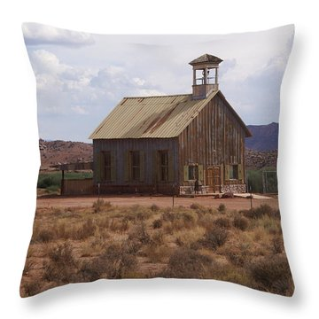 Lonely Schoolhouse Throw Pillow by Marty Koch
