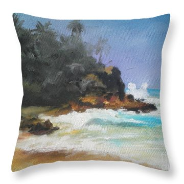 Lonely Sea Throw Pillow by Rushan Ruzaick