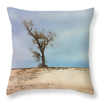 Lonely Sentinel  Throw Pillow