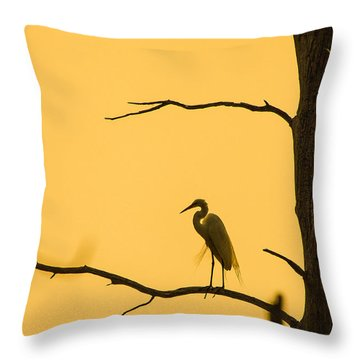 Lonely Silhouette Throw Pillow