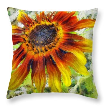 Lonely Sunflower Throw Pillow