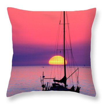 Throw Pillow featuring the photograph Lonely Sunset by Bernardo Galmarini