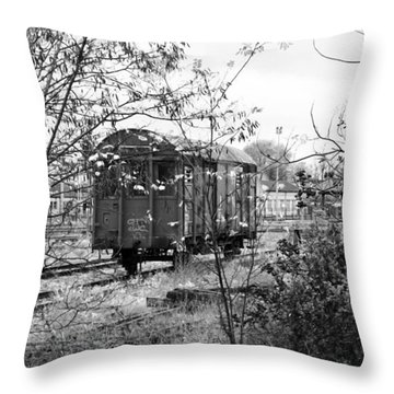 Lonely Train Throw Pillow