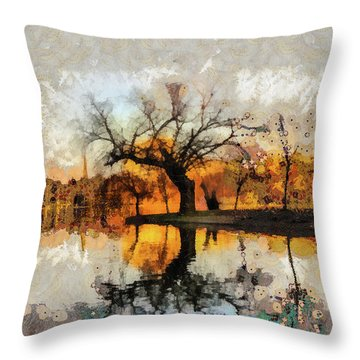 Lonely Tree And Its Thoughts Throw Pillow
