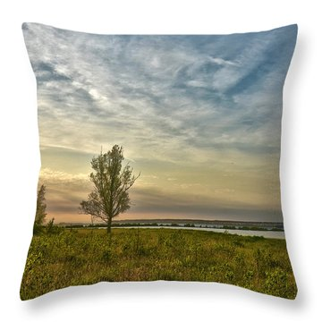 Lonely Tree In Dintelse Gorzen Throw Pillow
