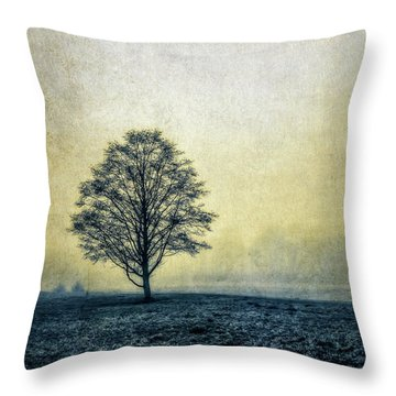 Lonely Tree Throw Pillow by Marion McCristall