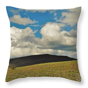 Lonely Tree Throw Pillow by Michele Penner