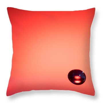 Lonely Water Drop Throw Pillow