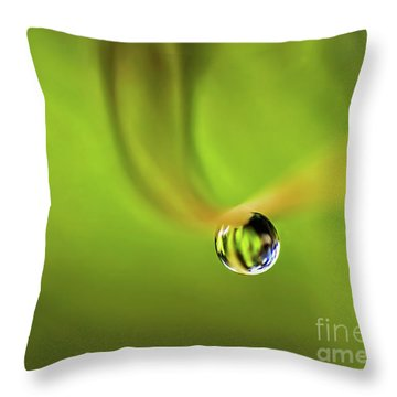 Lonely Water Droplet Throw Pillow