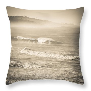 Lonely Winter Waves Throw Pillow